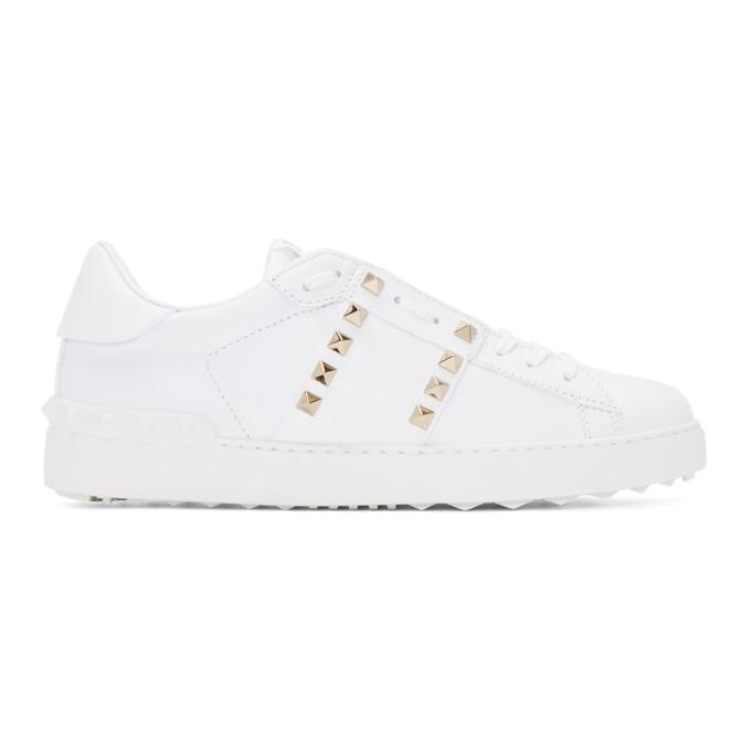 Valentino White Valentino Garavani 'Rockstud Untitled' 11 Sneakers