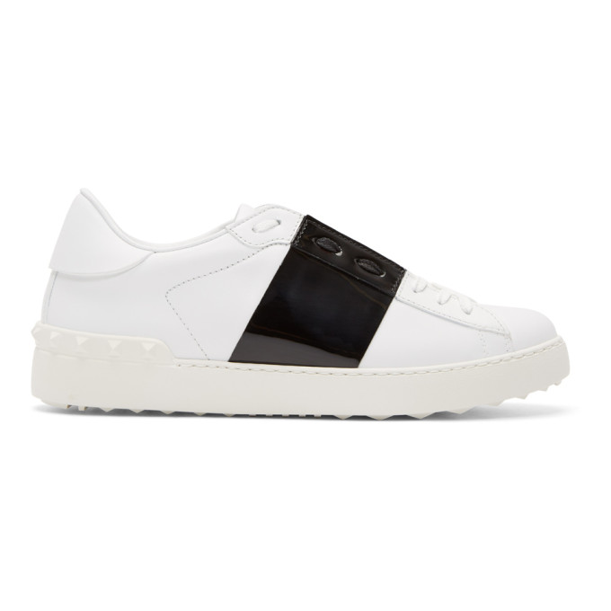 Valentino White Valentino Garavani Rockstud Untitled Sneakers