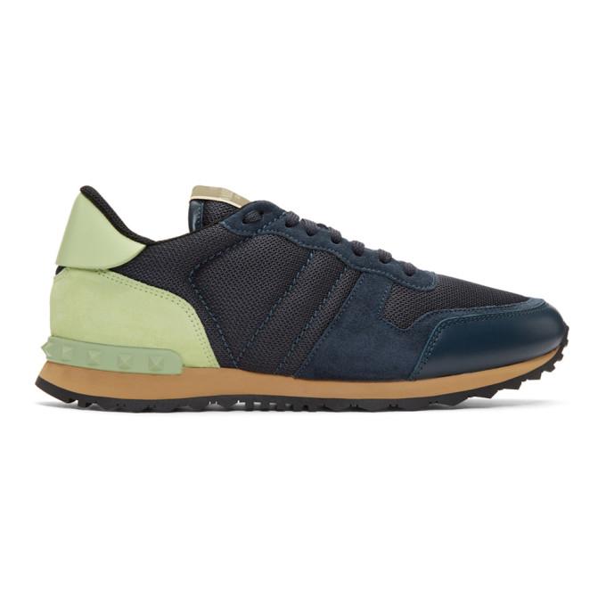 Valentino Blue Valentino Garavani Rockrunner Sneakers