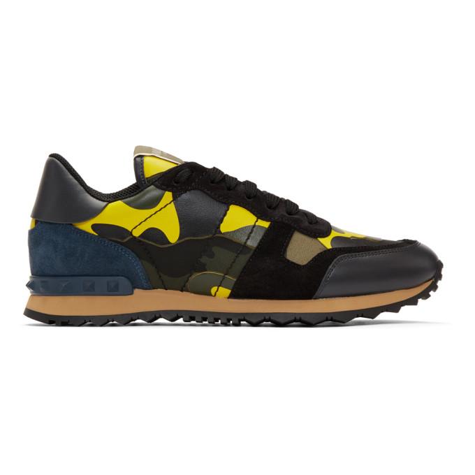 Valentino Multicolor Valentino Garavani Camo Rockrunner Sneakers