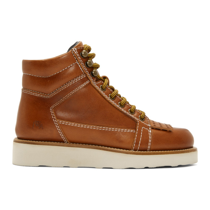 JW Anderson Brown Hiking Boots