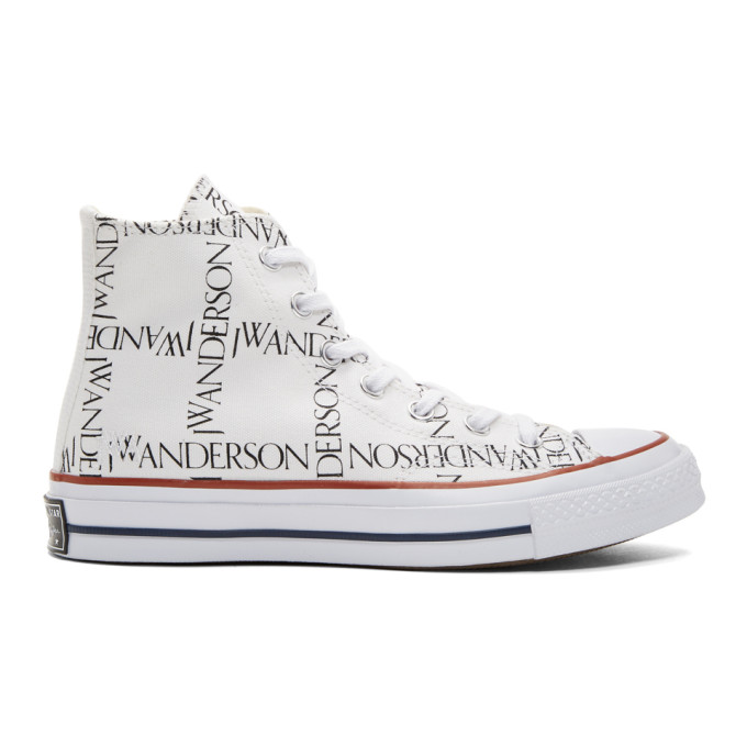 JW Anderson White Converse Edition Grid Chuck Taylor All Star 70 High-Top Sneakers