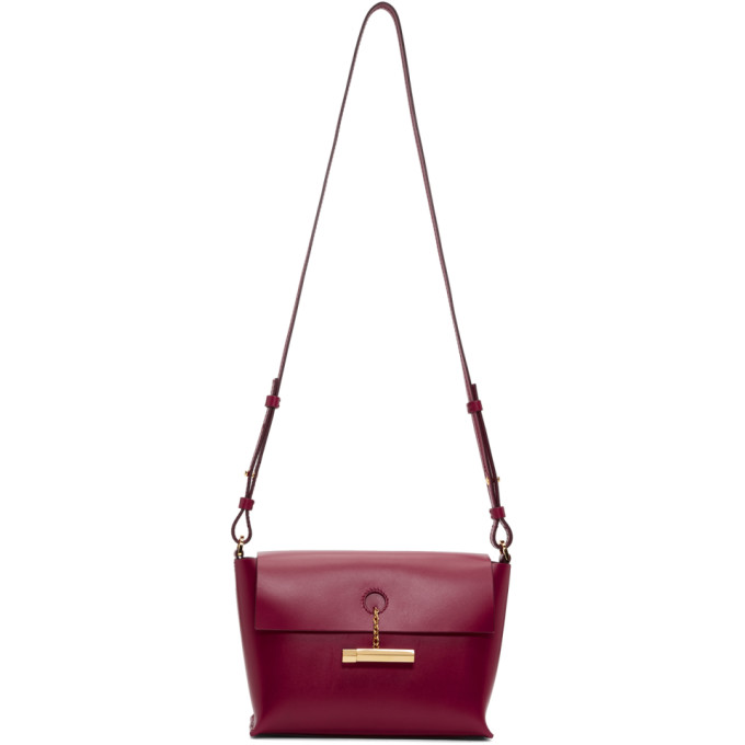Sophie Hulme Red The Pinch Crossbody Bag