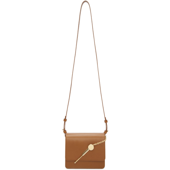 Sophie Hulme Tan Small Cocktail Stirrer Bag