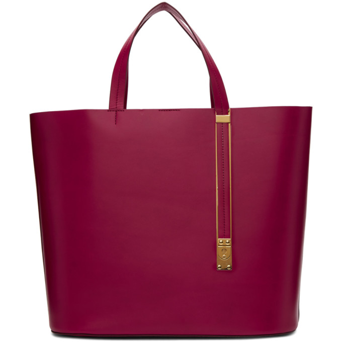 Sophie Hulme Red East West Exchange Tote
