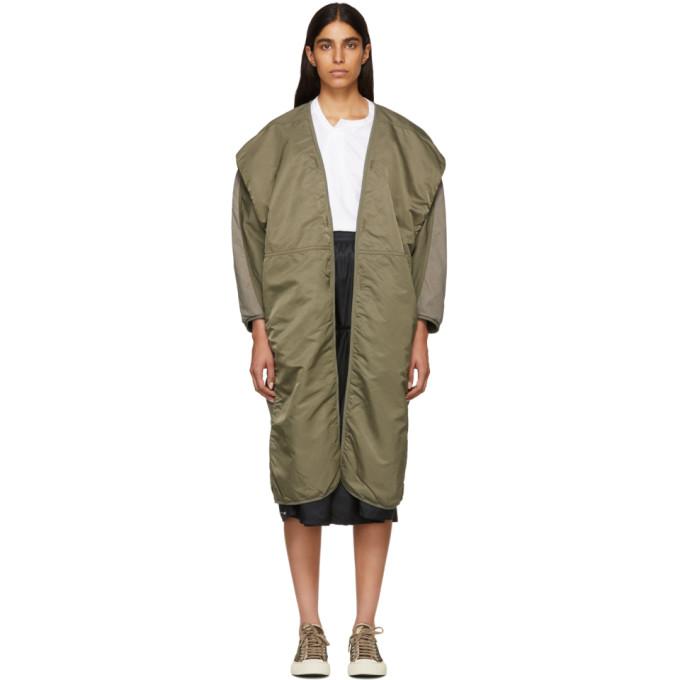 Visvim Green Kimono Mil Coat in Olive