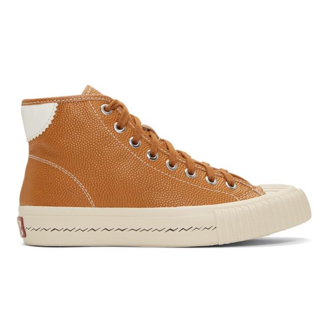 Visvim Orange Hollis High-Top Sneakers