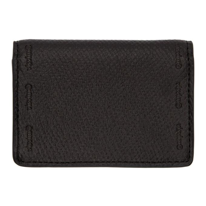 VISVIM Flap Wallet in Black