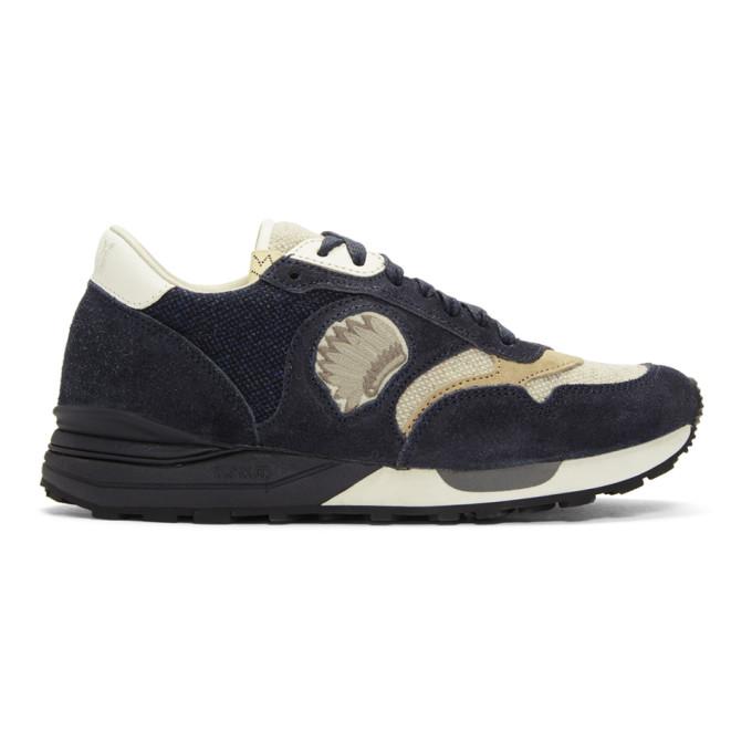 Visvim Navy Roland Jogger Sneakers