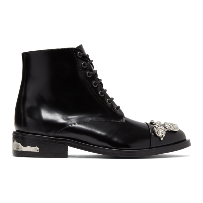 Toga Pulla Black & Silver Knot Boots