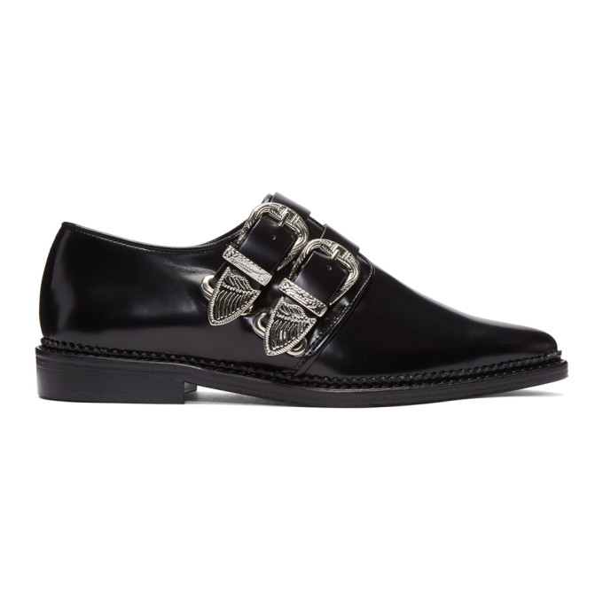 Toga Pulla Black Buckles Oxfords