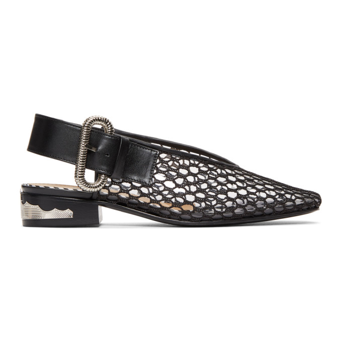 Toga Pulla Black & Clear Vinyl Loafers