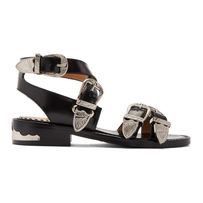 Toga Pulla Black Western Sandals
