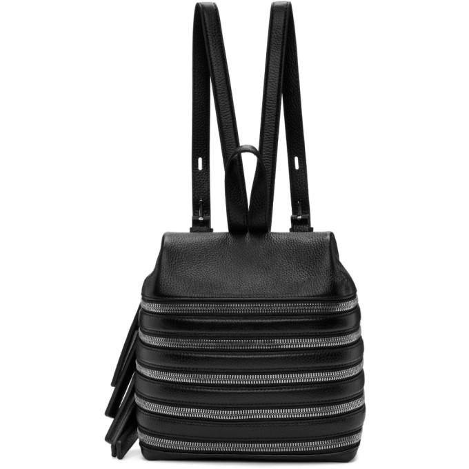 Image of Kara Black Small Multi Zip Backpack