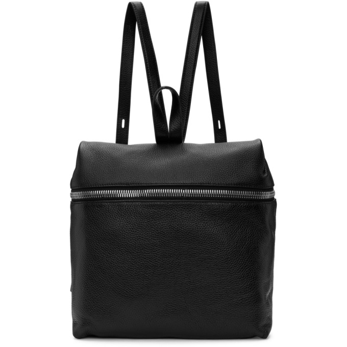 Image of Kara Black Large Leather Backpack