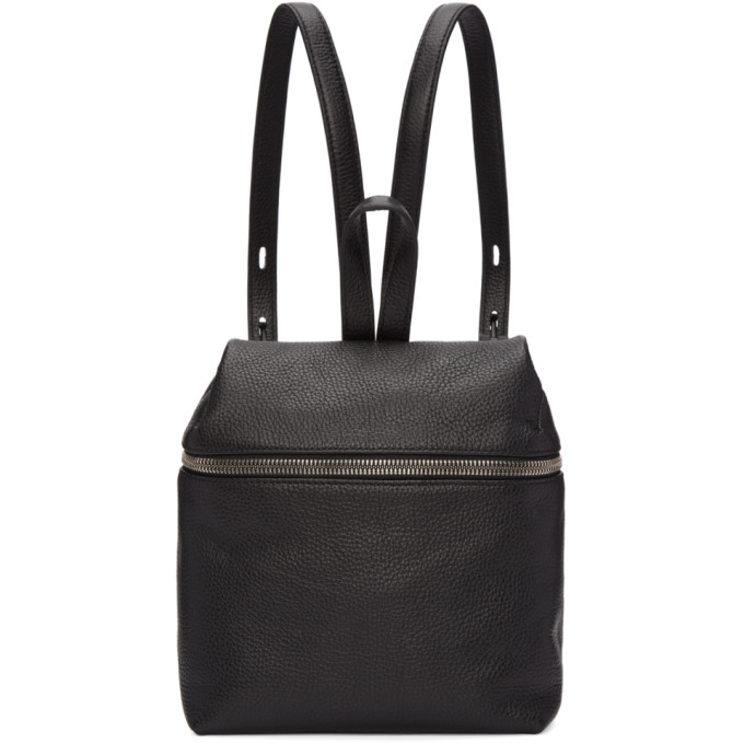 Image of Kara Black Small Leather Backpack
