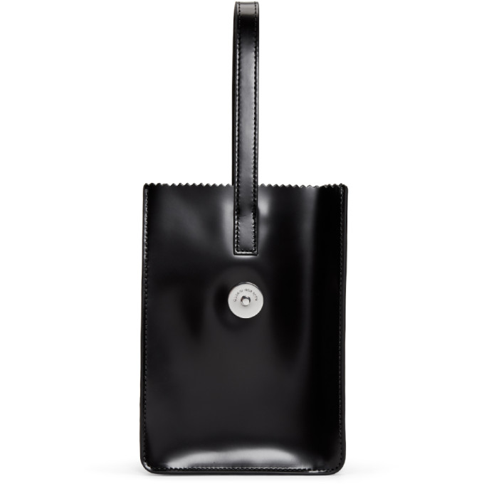 Image of Kara Black Pinch Wristlet Clutch