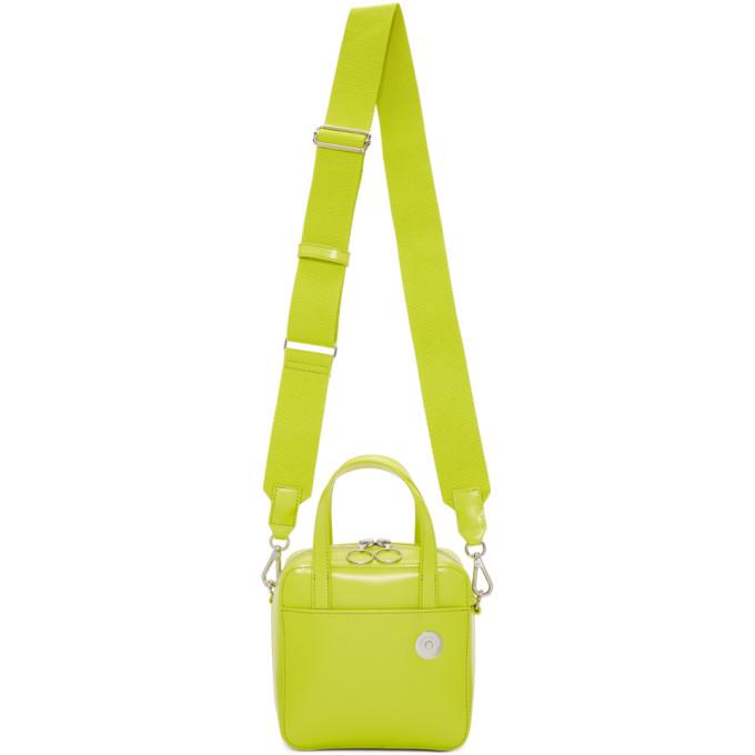Kara Green Small Brick Leather Shoulder Bag