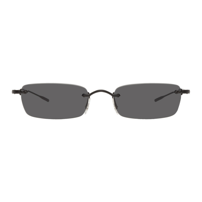 Image of Oliver Peoples Black Daveigh Sunglasses