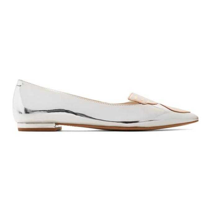 Sophia Webster Silver Bibi Ballerina Flats