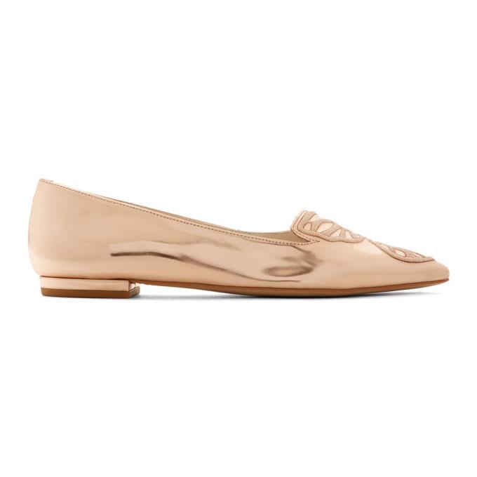 Sophia Webster Rose Gold Bibi Ballerina Flats