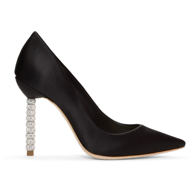 Women'S Coco Pointed Toe Crystal & Faux Pearl Pumps in Black