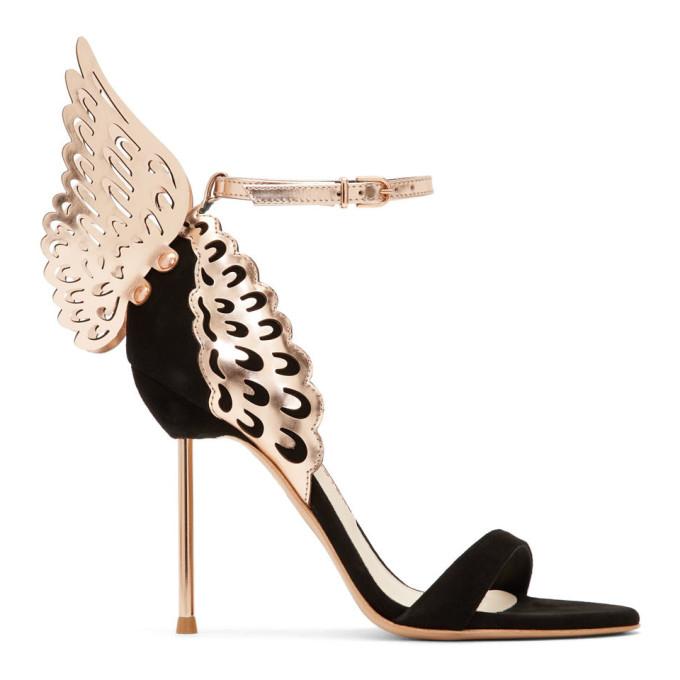 Sophia Webster Black Evangeline Sandals