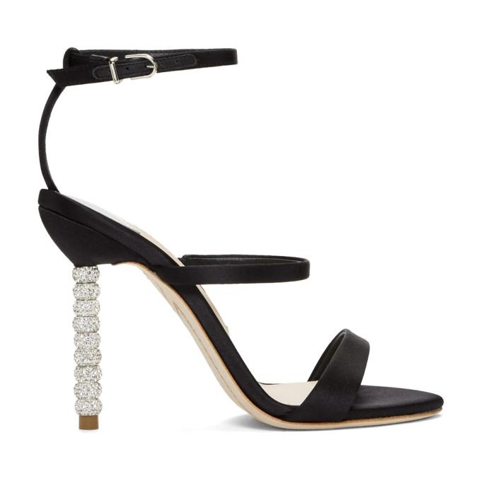 Image of Sophia Webster Black Rosalind Sandals