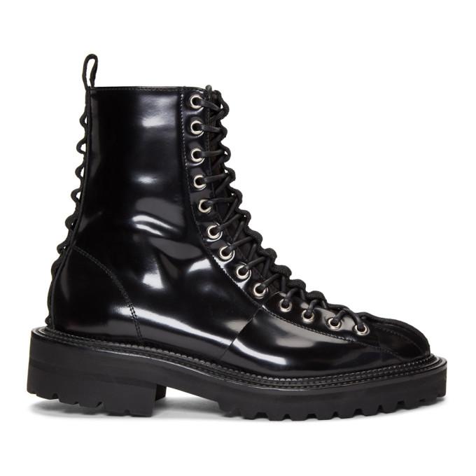 Yang Li Black Lace Up Boots