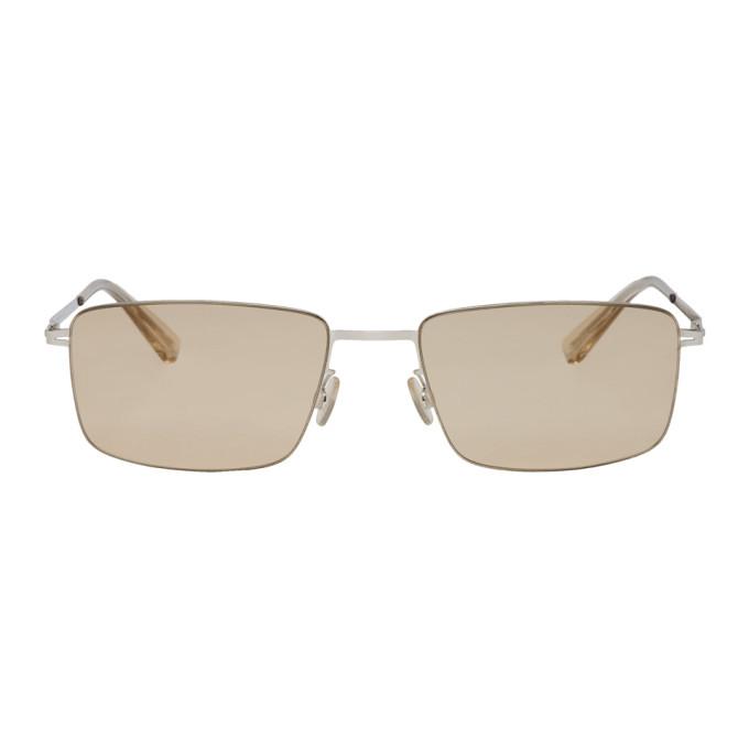 Image of Mykita Silver Kaito Sunglasses