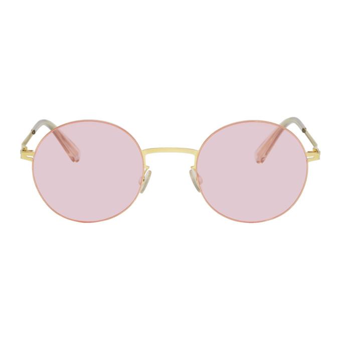 Image of Mykita Gold Kayo Sunglasses