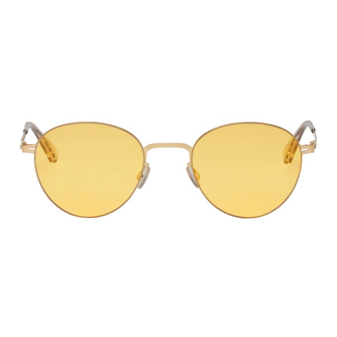 Image of Mykita Gold Eito Sunglasses