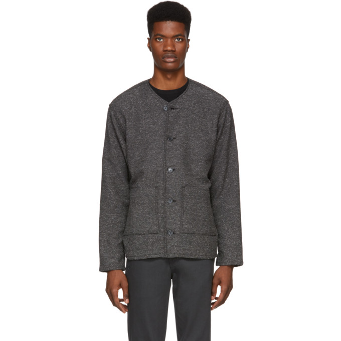 NAKED AND FAMOUS Naked And Famous Denim Grey Chore Jacket in Charcoal