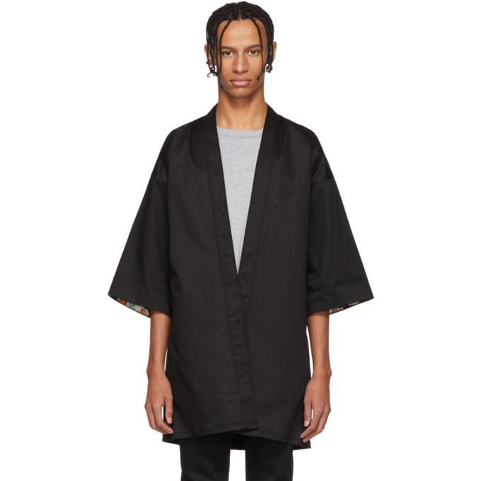Naked and Famous Denim Chemise noire Haori exclusive a SSENSE