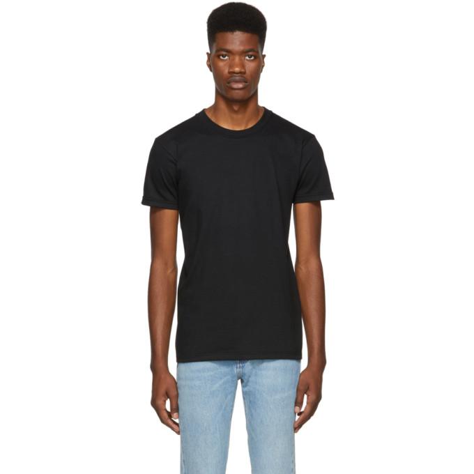 Image of Naked & Famous Denim Black Ringspun Cotton T-Shirt