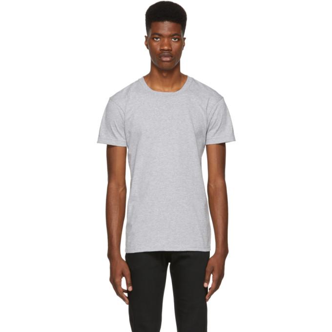 Image of Naked & Famous Denim Grey Ringspun Cotton T-Shirt