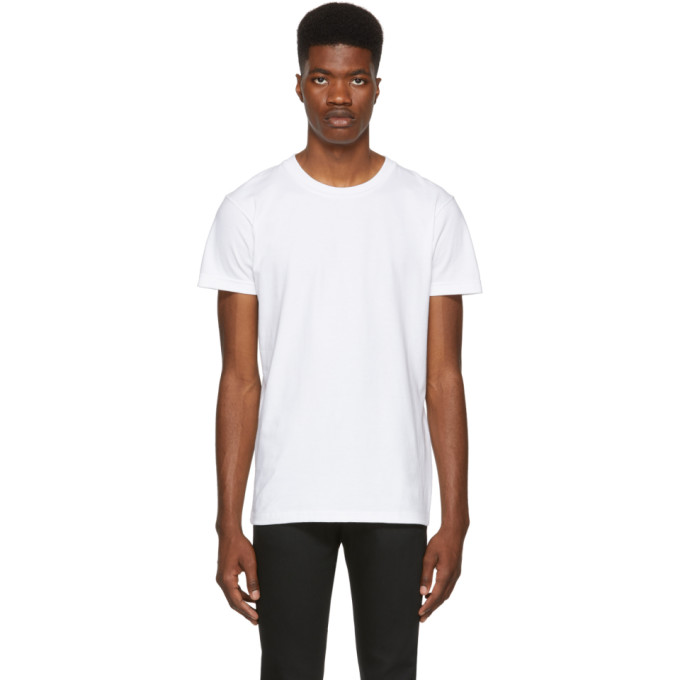 Image of Naked & Famous Denim White Ringspun Cotton T-Shirt