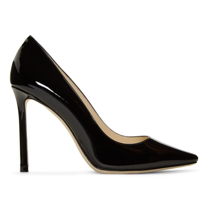 Jimmy Choo Black Patent Romy 100 Heels