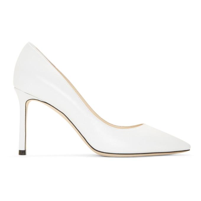 Jimmy Choo White Leather Romy 85 Heels