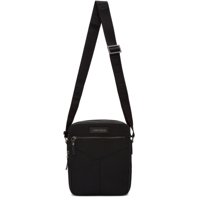 Jimmy Choo Black Blaine Crossbody Messenger Bag