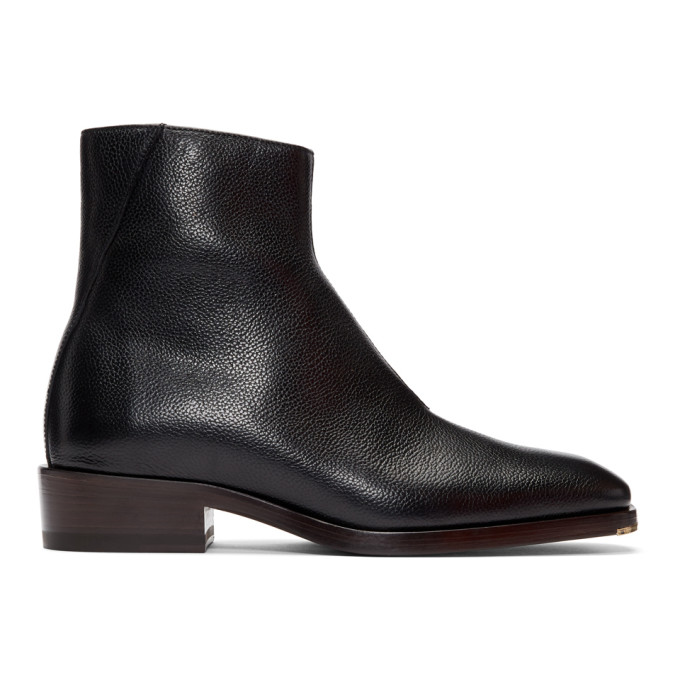 Jimmy Choo Black Leather Lucas Boots
