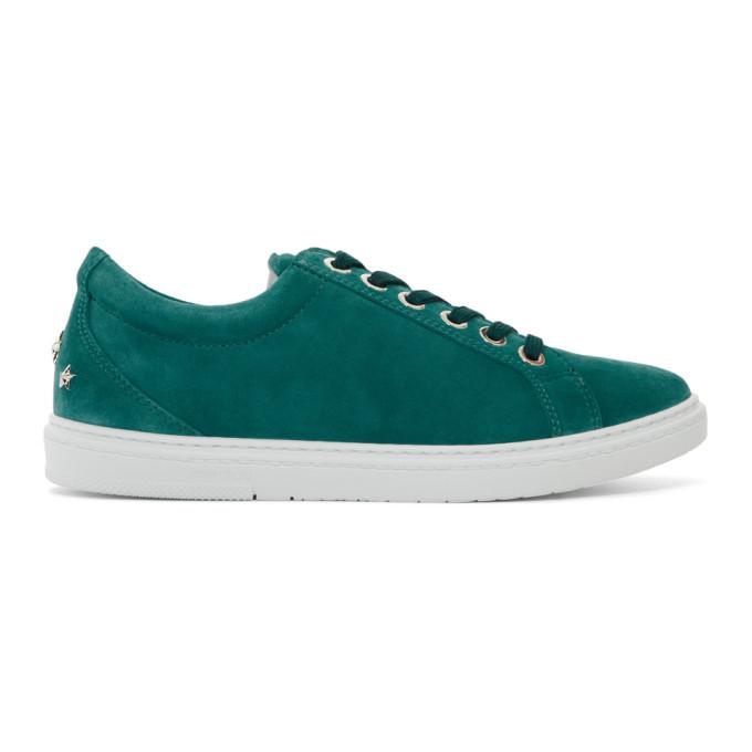 Jimmy Choo Green Suede Cash Sneakers