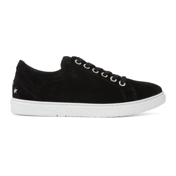Jimmy Choo Black Suede Cash Sneakers