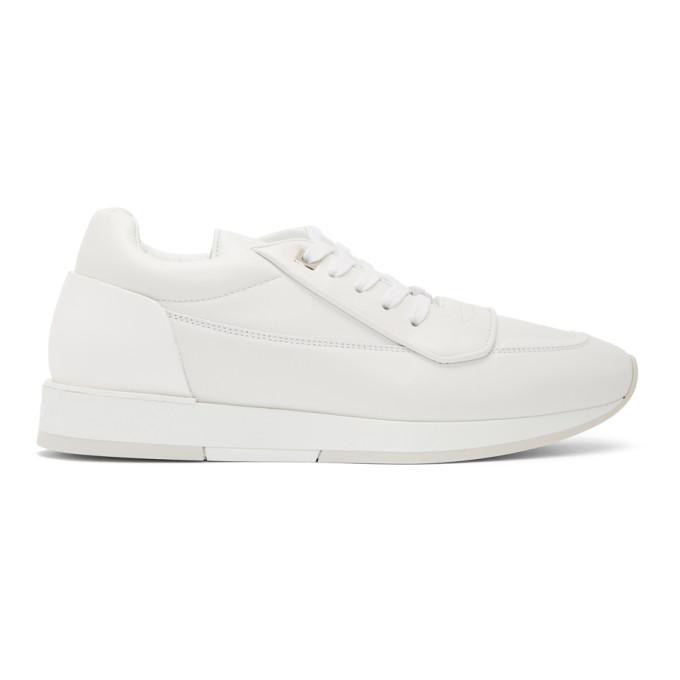 Jimmy Choo White Leather Jett Sneakers