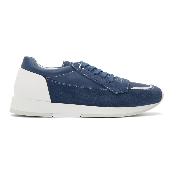 Jimmy Choo Blue Suede Jett Sneakers