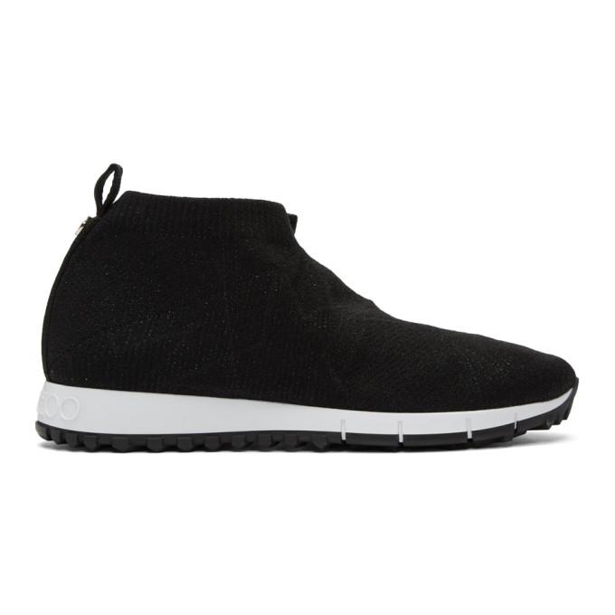 Jimmy Choo Black Lurex Norway Sneakers