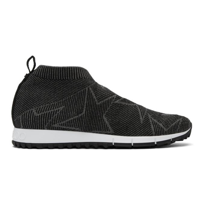 Jimmy Choo Black & Grey Norway/M Sneakers