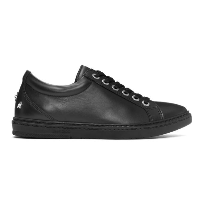 Jimmy Choo Black Leather Cash Sneakers