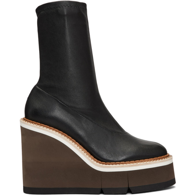 Clergerie Black Britt Wedge Boots