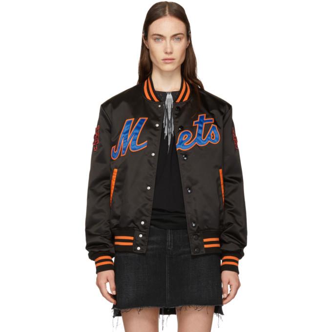 Ny Mets Black Poliamide Bomber Jacket